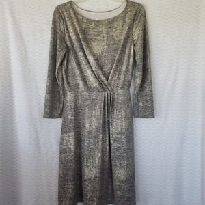 Gilli Silver and gold long sleeve dress